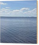 A Calm Pamlico Sound Wood Print by Joan Meyland