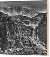 A Canyon Storm Wood Print