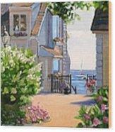A Cape Cod Paradise Wood Print by Laura Lee Zanghetti