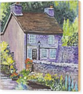 A Castleton Cottage In Uk Wood Print