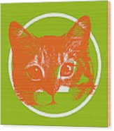 A Cat Wood Print