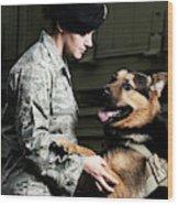 A Caucasian, Female Air Force Security Wood Print