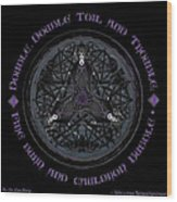 A Celtic Witches' Brew Wood Print