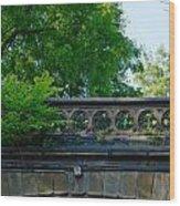 A Central Park Bridge Wood Print