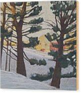 A Certain Slant Of Light Wood Print by Grace Keown