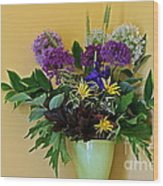 A Chanticleer Spring Bouquet Wood Print