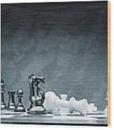 A Chess Game Wood Print