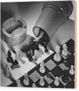 A Chess Set Wood Print