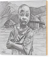 A Child Of Africa Wood Print by Beverly Marshall
