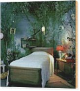 A Child's Bedroom Designed By William Riva Wood Print