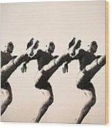 A Chorus Line Wood Print by Bill Cannon