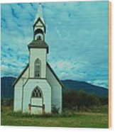 A Church In British Columbia   Wood Print