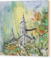 A Church In Budapest 02 Wood Print