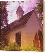 A Church In Prosser Wa Wood Print