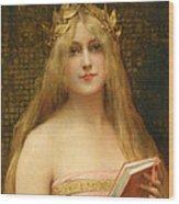 A Classical Beauty Wood Print