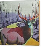 A Close Encounter In Yellowstone Wood Print