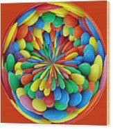 A Clowns Ball Wood Print