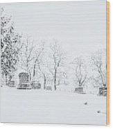 A Cold Palouse Wood Print