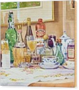 A Collection Of Drinks Wood Print by Mary Helmreich