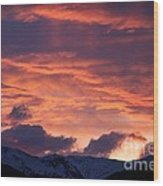 A Colorado Sunrise Wood Print