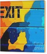 A Colorful Exit  Wood Print