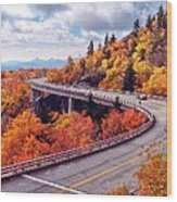 A Colorful Ride Along The Blue Ridge Parkway Wood Print