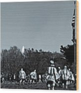 A Combat Patrol Heads For The Woods Wood Print
