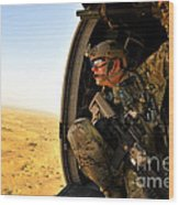 A Combat Rescue Officer Conducts Wood Print