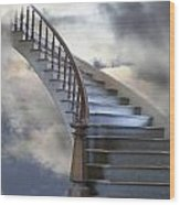 A Composite Entitled Staircase Wood Print by Robert Bartow