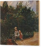 A Corner Of The Garden At The Hermitage Wood Print