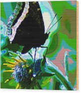 A Cosmic Butterfly Wood Print
