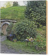 A Cosy Hobbit Home In The Shire Wood Print