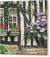 A Cottage In Normandy Wood Print