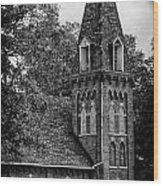 A Country Chuch's Bell Tower Wood Print