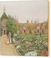 A Country Garden At Bray, Berkshire Wood Print