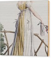 A Country Style Ladies Dress Wood Print