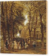 A Country Wedding Wood Print by Charles Thomas Burt