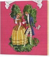 A Couple In Period Costume Wood Print