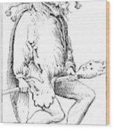 A Court Fool, 1552 Wood Print