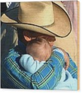 A Cowboy's Love Wood Print