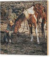 A Cowgirls Best Friend Wood Print