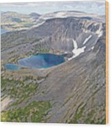 A Crater Lake From The Seaplane In Katmai National Preserve-alaska  Wood Print