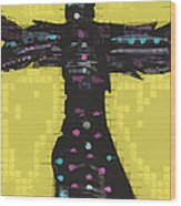 A Cross To Bare Wood Print