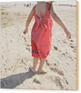 A Cute Little Hispanic Girl Wearing Wood Print