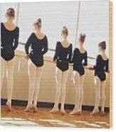A Dance Class Wood Print