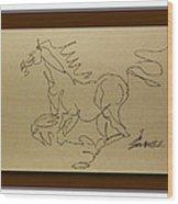 A Dancing Horse Wood Print