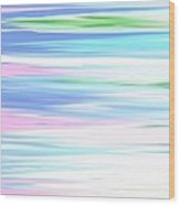 A Day At The Beach Pastels Wood Print