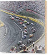 A Day At The Racetrack Wood Print
