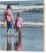 A Day At The Seaside  Wood Print