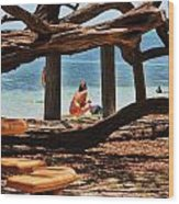 a day in the Florida Keys Wood Print